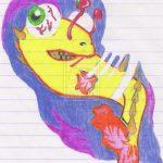 Ilustrações com lapis de cor